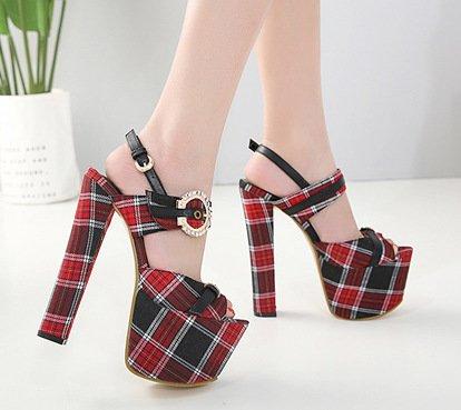 ZHUDJ Peep Toe Pumps_Super Schönheit Schuhe Schuhe Schuhe mit Groben Wasserdicht Toe Buckle df1ca4