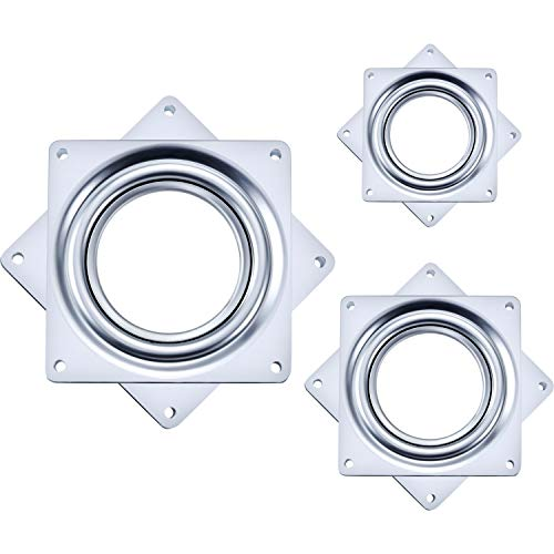- Tatuo 3 Pieces Lazy Susan Turntable Bearing, Great for DIY Project for Home (2, 3, 4 Inch)