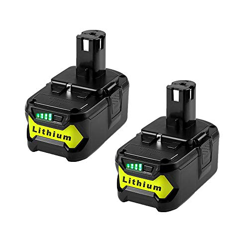 2 Pack 18v P108 Extended Battery Pack, MASIONE 6000mah Lithium Battery for Ryobi 18v Cordless Power Tools P104 P105 P102 P103 P107 P109 P122 BPL-1815 BPL-1820G