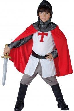 e50d6fc78 LUCIDA - Disfraz de caballero medieval para niño, talla 4-6 años