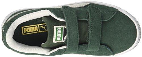Puma Unisex-Kinder Suede Classic V PS Sneaker Grün (Pineneedle-Puma White)