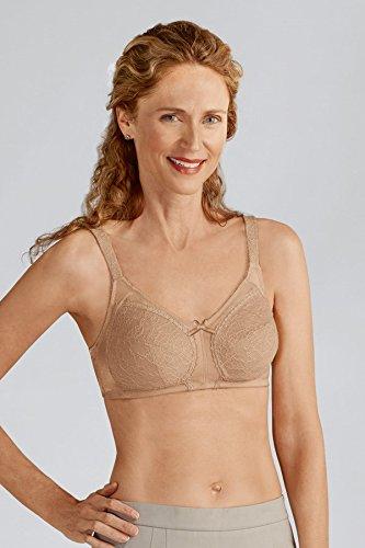 Amoena Women's Ina Wirefree Pocketed Bra, Nude, 32DDD Amoena Microfiber Bra