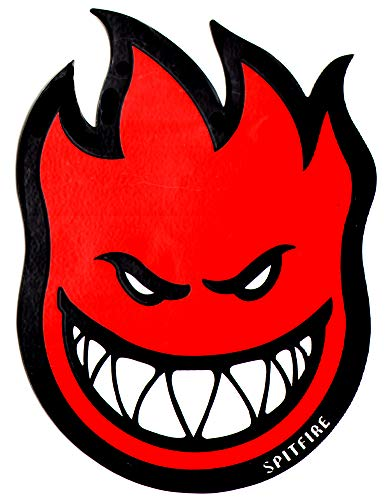 Spitfire Wheels Red Fireball Skateboard Sticker - Skate Board Flame fire Skate Skateboarding sk8