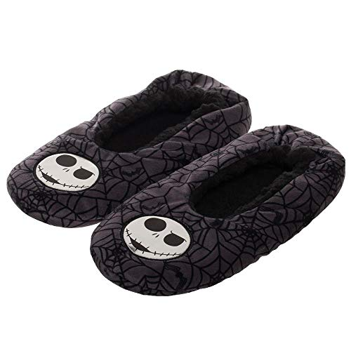 Nightmare Before Christmas Jack Skellington Soft Plush Cozy Unisex Adult Slippers -
