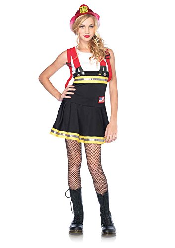 UHC Teen Girl's Sweetheart Firefighter Outfit Fancy Dress Halloween Costume, Teen JR M/L (12-14) ()