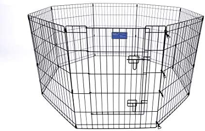 Simply Plus Pets Foldable Metal Exercise Pen Pet Playpen, for Indoor Home Out-Door Use. Keeps Pets Safe,Easy Set Up, No Tools Required