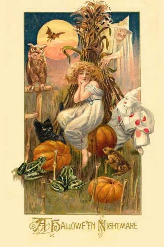 Antique Halloween Postcards (A Halloween Nightmare: Vintage Journals by Amybug's Attic : Vintage Halloween Postcard Ephemera Notebook Journal)