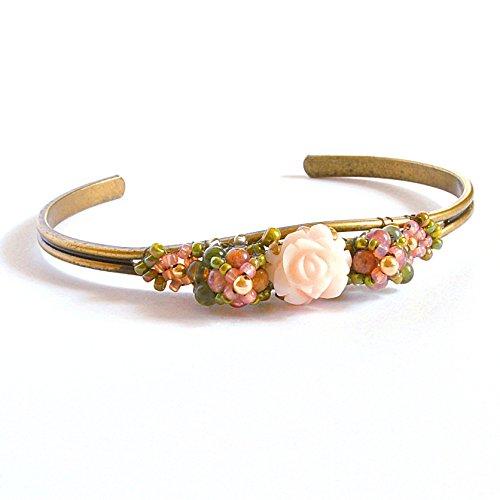 Angel Skin Coral Bracelet, Artisan Handcrafted with Tourmaline and 14K Gold Filled (14k Coral Bracelet)