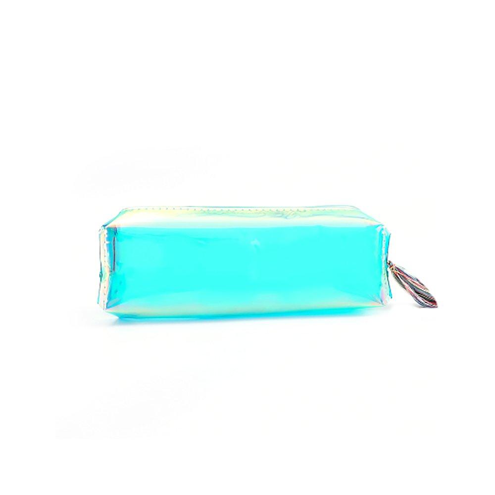 material escolar Estuche l/áser transparente de gran capacidad para cosm/éticos color Colorful 19.5 * 6 * 5cm maquillaje GerTong