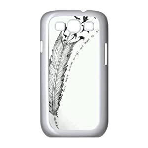 Feather Quote Fly Unique Design Cover Case for Samsung Galaxy S3 I9300,custom case cover ygtg615744