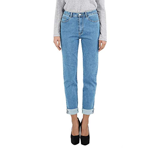 9a76c3ad08ea Women's Curvy-Fit Boyfriend Jeans Modern High Waist Mom Stretchy Denim Pants