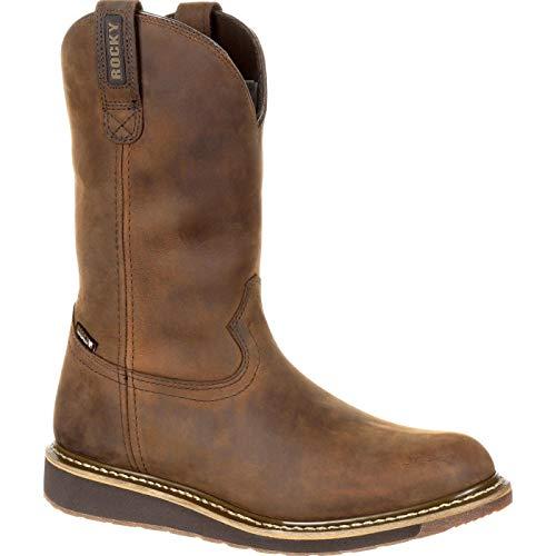 Rocky Men's Cody Western Boot, Brown, 10 Medium US