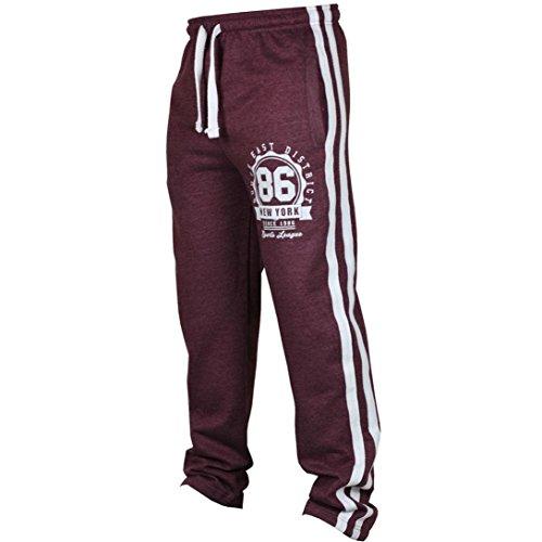 Drawstring Pant Lounge Scrub (Fashion Men's Sport Jogging Fitness Pant Casual Loose Sweatpants Drawstring Pant (Wine Red, S))