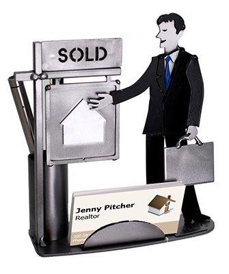 Real Estate Man Business Card Holder H&K Steel ()