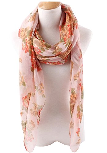 Herebuy Womens Floral Scarves Peony product image