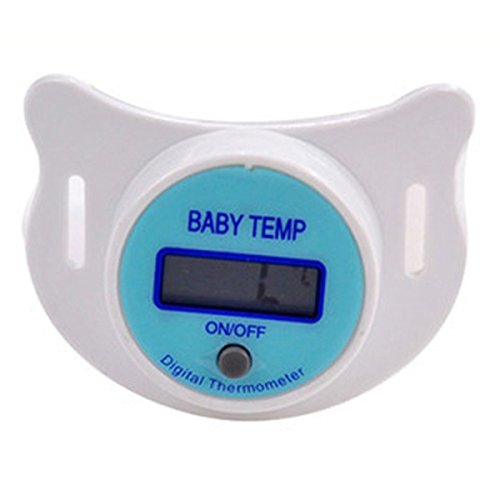Amazon.com : Generic Health Monitors Baby Nipple Thermometer Termometro Baby Pacifier LCD Digital Mouth Nipple Pacifier Chupeta Termometro Testa : Baby