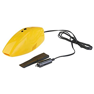 PIXNOR Car Vacuum 12V Cleaner Dust Collector (Yellow): Electronics