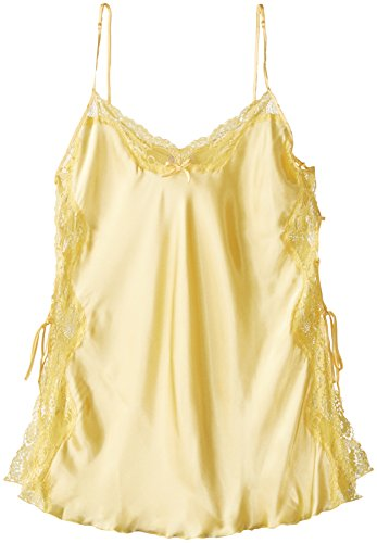 Shirley of Hollywood Women's Plus Charmeuse and Lace Chemise, Buttercup, (Hollywood Charmeuse Chemise)