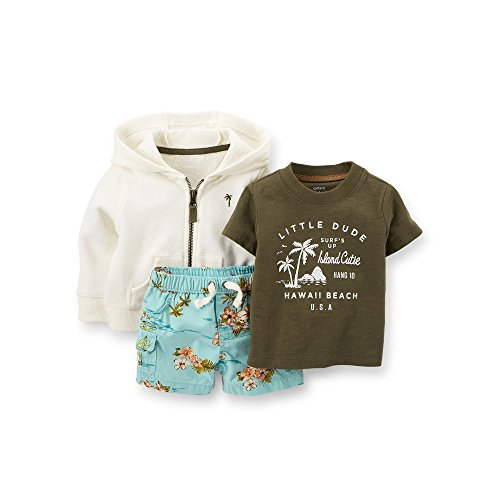 Carter's® Baby Boys' 3-Piece French Terry Cardigan Set