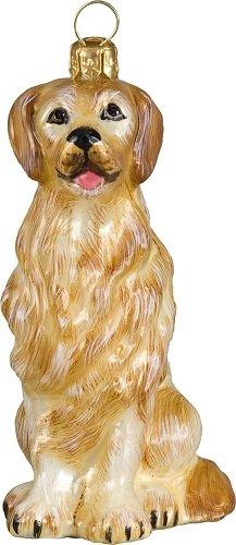 - Joy to The World Collectibles European Blown Glass Pet Ornament, Golden Retriever