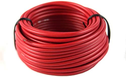 16 GAUGE RED & BLACK POWER GROUND WIRE 25 FT EACH 50' TOTAL STRANDED COPPER CLAD