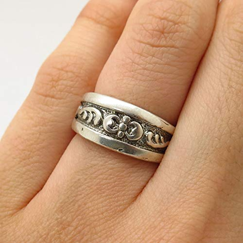 925 Sterling Silver Scroll Ornate Graduated Ring Size 5 Jewelry by Wholesale Charms