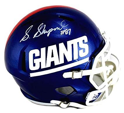 buy popular 042d0 22569 Amazon.com: Sterling Shepard Signed Helmet - Riddell Full ...