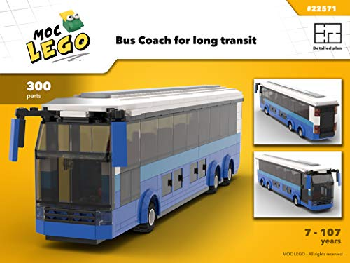 Coach Bus (Instruction Only): MOC LEGO por Bryan Paquette