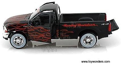 negro con Harley Davidson Maisto Pick up modelo 1:24 Ford F-350 naranja