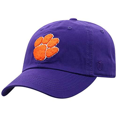 NCAA Clemson Tigers Adult Adjustable Hat, Purple