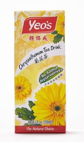 Yeo's Chrysanthemum Tea Drink, Lightly Infused Healthy Tea, Refreshing Asian Drinks, 250 ml (24 - Gourd White