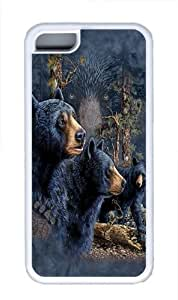 Lmf DIY phone caseFind 13 Black Bears TPU Case Cover for iphone 5/5s WhiteLmf DIY phone case