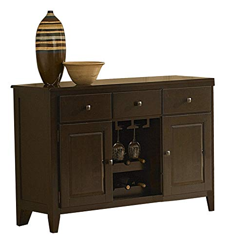 (Creekmore Casual Modern Dining Server in Merlot )