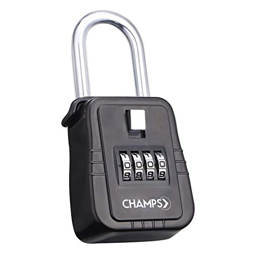 Champs Combination Realtor Lock, 4 Digit Comination Padlock, Real Estate Key Lock Box, Set-Your-Own Combination [12 Packs, Black] by Champs (Image #4)