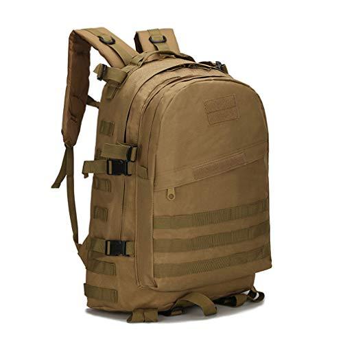 Unisex Fishing Bag Waterproof Oxford Mountaineering Package 3D Sports Backpack Mud Color by Purpume