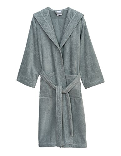 TowelSelections Women's Robe Turkish Cotton Hooded Terry Bathrobe X-Small/Small Quarry