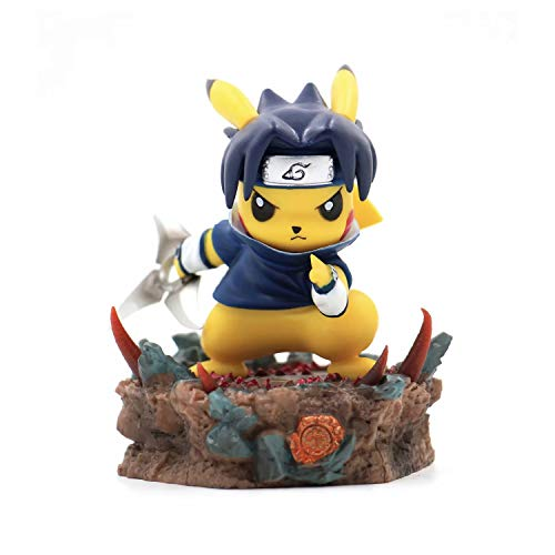 JSV-toy Pikachu Cosplay Sasuke Model Action Figure Collectible Toys Anime Gifts ...