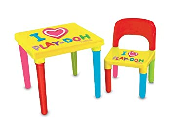Play-Doh CPDO016 Plastic Table and Chair Plus Activity Set  sc 1 st  Amazon UK & Play-Doh CPDO016 Plastic Table and Chair Plus Activity Set: Amazon ...