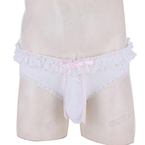 Sissy Lace Yizyif Underwear Pouch 3d Panties White Mens Briefs Lingerie Boxer 5E5O8q1r