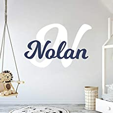 R Oct 26 Custom Name Viking Ship Baby Boy Wall Decal Nursery For Home Bedroom Children Handmade Series