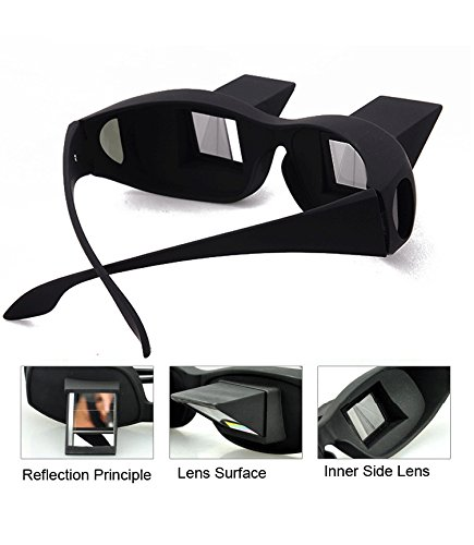 vinmax Bed Prism Spectacles Horizontal Lazy Glasses for Reading and Watching TV Unisex