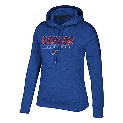 adidas NCAA Kansas Jayhawks Womens Boxed in Team Issued Fleece Pullover Hoodboxed in Team Issued Fleece Pullover Hood, Collegiate Royal, X-Large