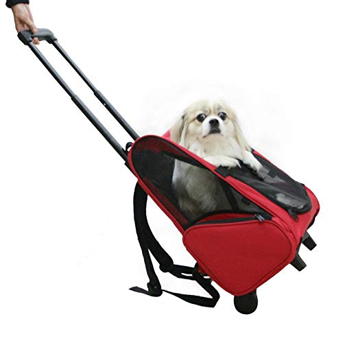KKA Puupy Pet Carrier Front Bag with Breathable Head Out Design and Double Mesh Padded Shoulder for Outdoor Travel Hiking