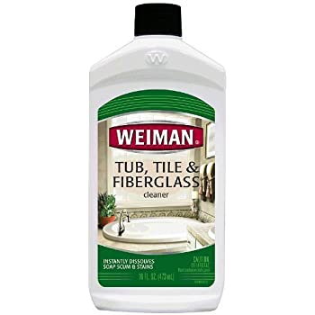 Amazon Com Weiman Tub Tile And Fiberglass Cleaner 16 Fl