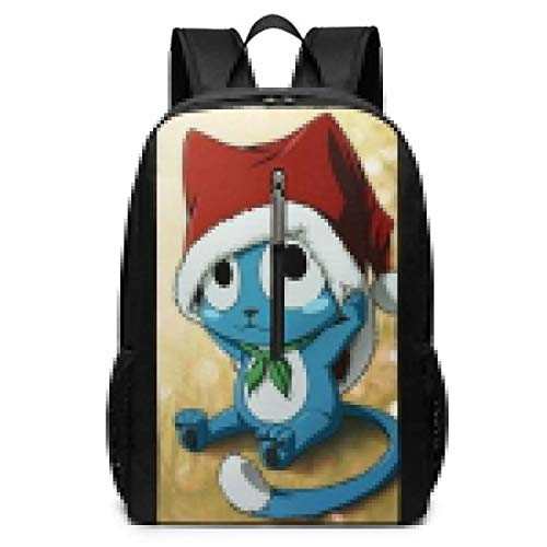 Cute Happy Fairy Tail Backpack 17 Inch Adult Laptop Backpacks Black
