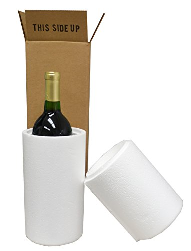 Wine Shipping Boxes & Foam - 1 Bottle (6 Boxes, 6 Foam Containers) (Shipping Wine)