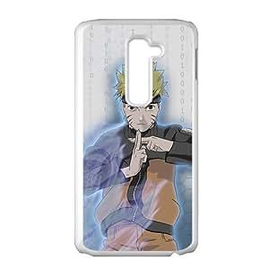 Anime Naruto Uzumaki Naruto VS Sasuke Uchiha Battle Skin Case for LG G2(White)