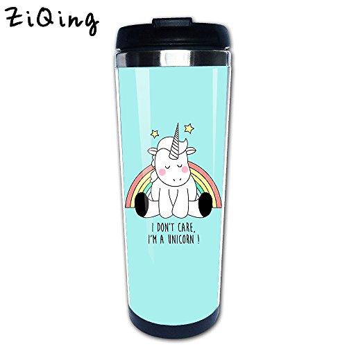 ZiQing Personalized Tumbler Funny Coffee Mug Funny Quote-I Dont Care I Am Unicorn!,Stainless Steel Travel Mug cup Tumbler 350ml Tea Mug