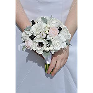 Pink & White Real Touch Anemone Rose & Ranunculus Mini Posy 105