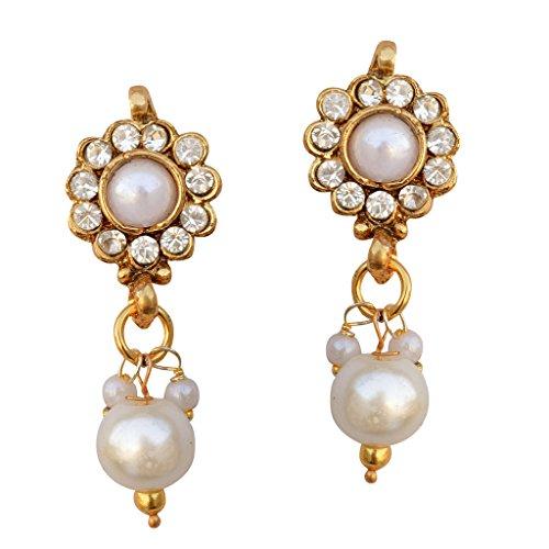 Ethnic India Bollywood Jewelry Set Gold FInish Pendant Set with ChainCHPE0010WH